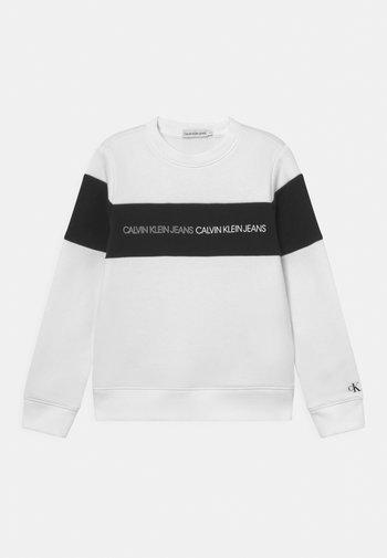 COLOUR BLOCK LOGO  - Sweatshirt - white
