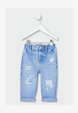 RIPPED - Straight leg jeans - blue