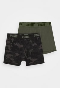 Puma - KIDS CAMO BOXER 2 PACK - Boxerky - army green - 0
