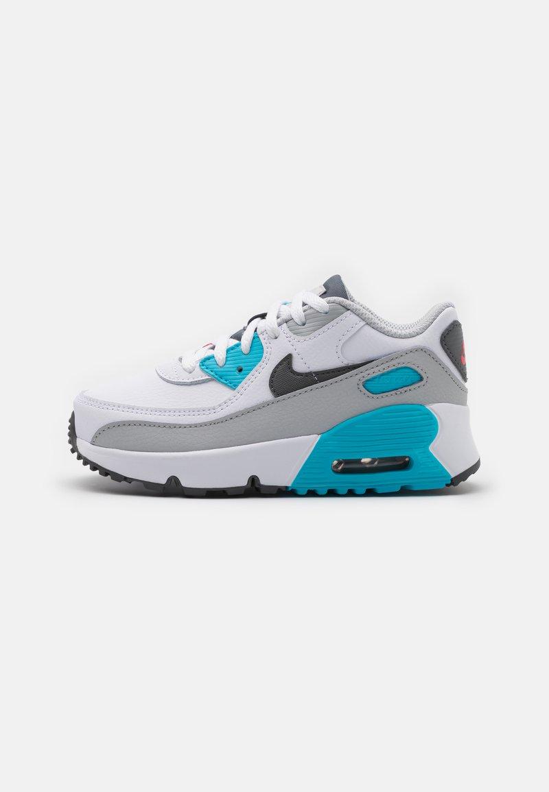 Nike Sportswear - AIR MAX 90 UNISEX - Sneakersy niskie - white/iron grey/chlorine blue