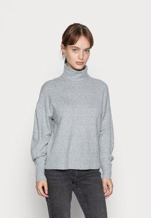 PCCAVA HIGH NECK - Jumper - light grey melange