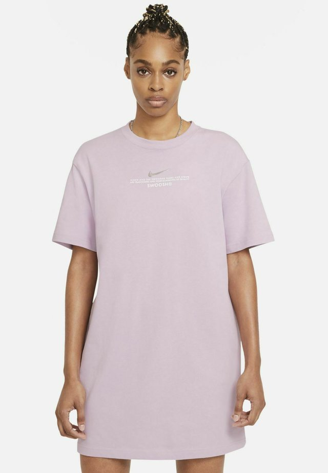 Jerseyjurk - iced lilac/white