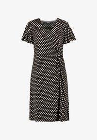 Samoon - MIT SEITLICHER DRAPIERUNG - Jersey dress - black gemustert - 0