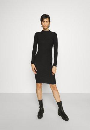 ONLEMMA HIGH NECK KNEE DRESS  - Pletené šaty - black