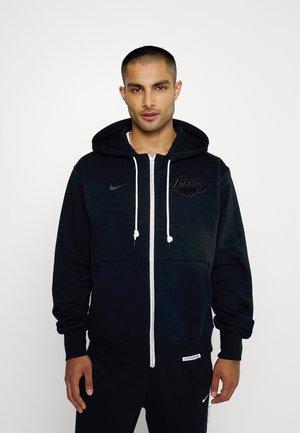 NBA LOS ANGELES LAKERS STANDARD ISSUE HOODIE - Zip-up sweatshirt - black/pale ivory