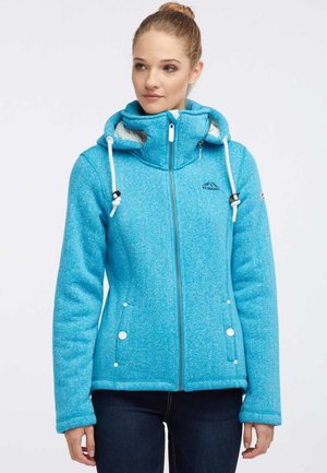 Fleece jacket - turquoise melange