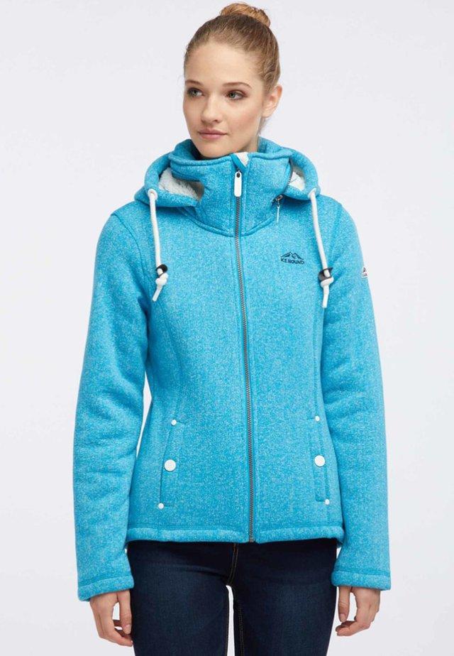 Fleecová bunda - turquoise melange