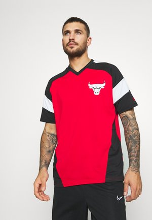 NBA OVERSIZED TEE CHICAGO BULLS - Club wear - red