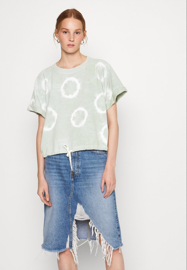 LINDSAY - Print T-shirt - light green