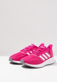 adidas Performance - RUNFALCON - Zapatillas de running neutras - real magenta/footwear white/grey three - 2
