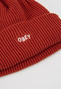 Obey Clothing - HANGMAN BEANIE - Čepice - brick red - 5