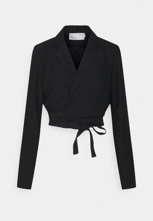CROPPED TIE - Blazer - black