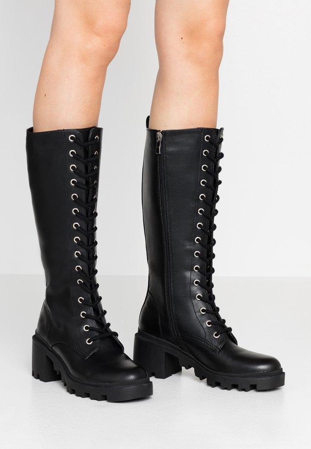 DORIAN - Platform boots - black paris