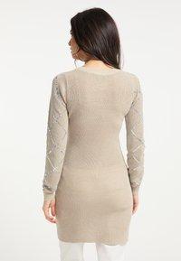 faina - Shift dress - beige - 2