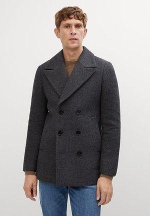 Krótki płaszcz - mittelgrau meliert