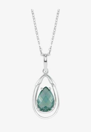 Necklace - silver/Grün