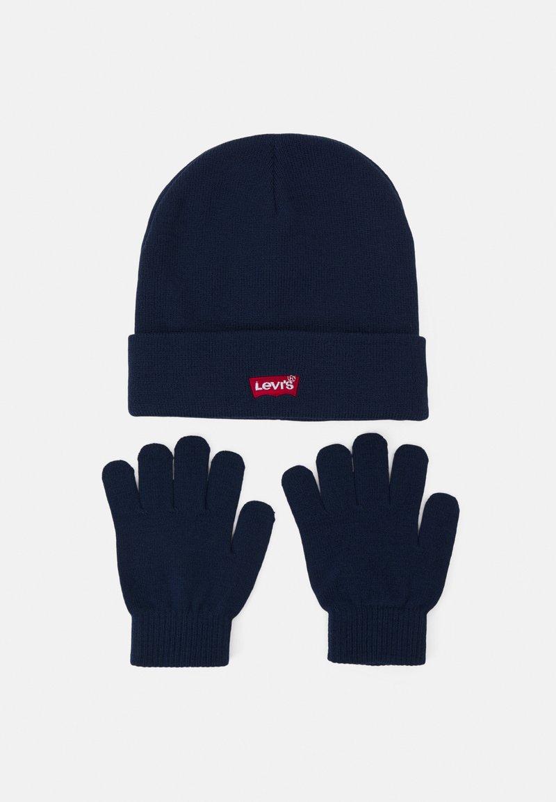Levi's® - CORE BATWING BEANIE GLOVE SET UNISEX - Gloves - dress blues