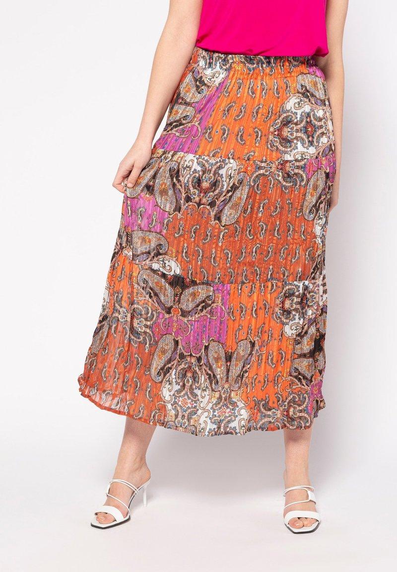 Ulla Popken - MIT 3 STUFEN - A-line skirt - multicolor