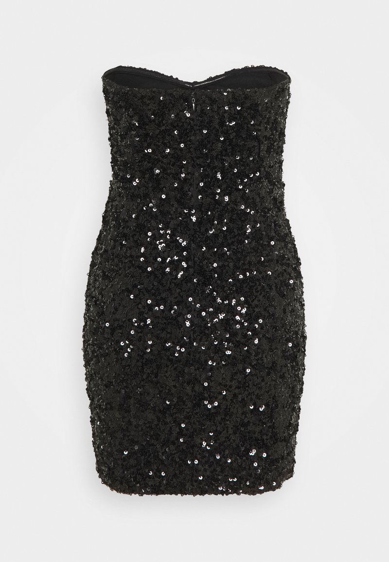 Missguided - ALL OVER SEQUIN BANDEAU MINI DRESS - Cocktail dress / Party dress - black