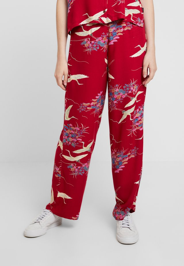 CRANES PANT - Trousers - red