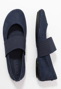 Camper - RIGHT NINA - Ankle strap ballet pumps - navy - 3