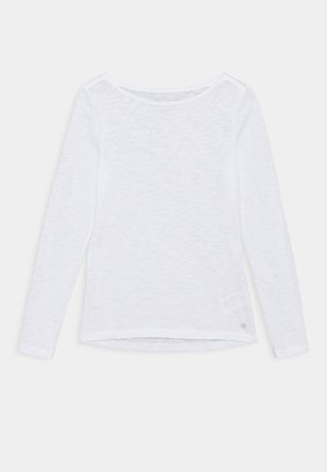 LONG SLEEVE BOAT NECK - Long sleeved top - white