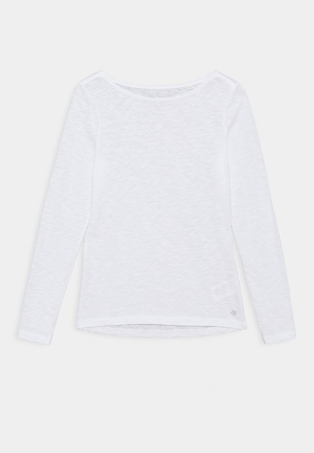 LONG SLEEVE BOAT NECK - Camiseta de manga larga - white