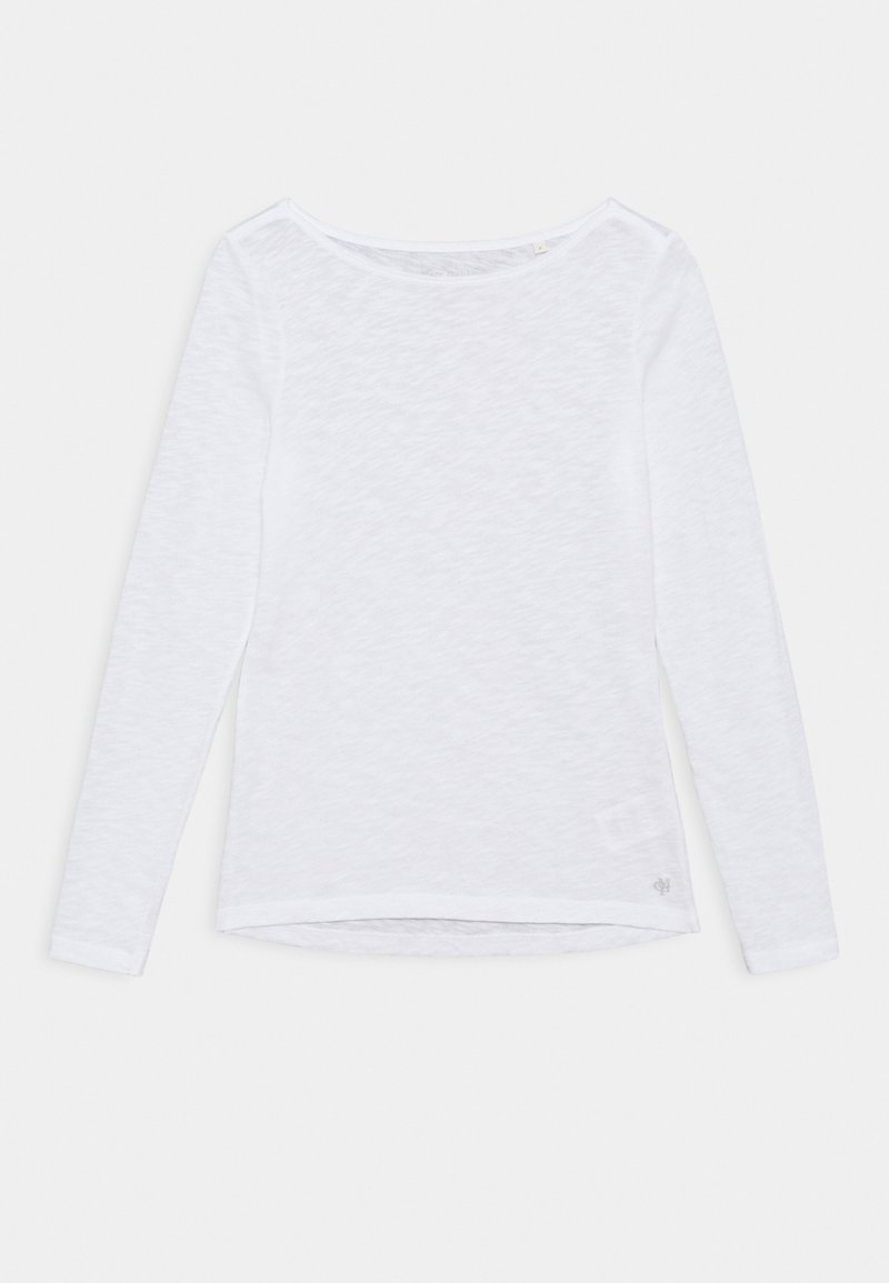 Marc O'Polo - LONG SLEEVE BOAT NECK - Long sleeved top - white