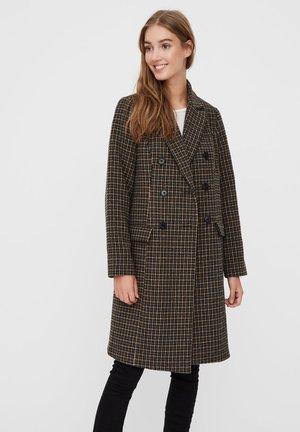 Classic coat - tobacco brown