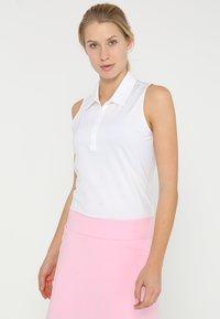 adidas Golf - MICRODOT SLEEVELESS - Polo - white - 0