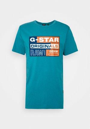 ORIGINALS FLOCK LOGO - T-shirts print - cricket blue