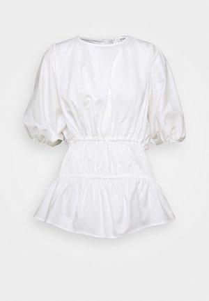 GATHERED CACOON - Bluzka - white