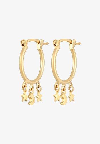 HOOPS STARS MOON - Boucles d'oreilles - gold
