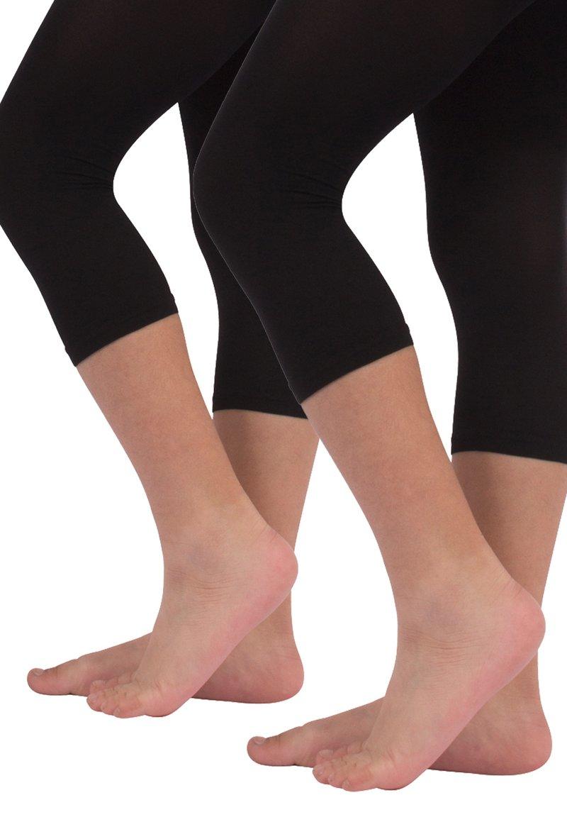 Calzitaly - 2 PACK  - Leggings - Trousers - black