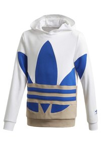 adidas Originals - LARGE TREFOIL HOODIE - Jersey con capucha - white - 2