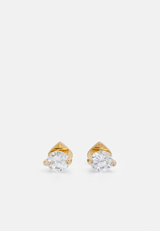 DUO PRONG STUDS - Örhänge - clear/gold-coloured