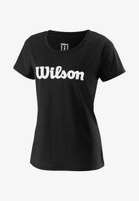Wilson - SCRIPT TECH - Print T-shirt - black/white - 0