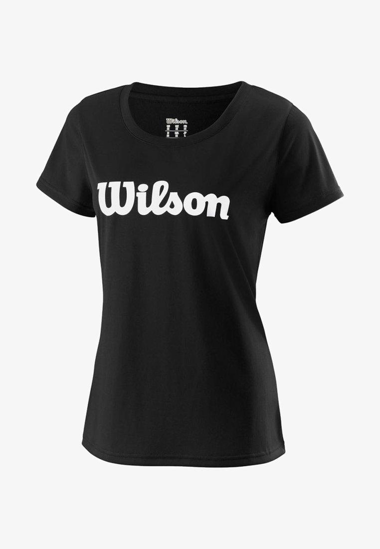 Wilson - SCRIPT TECH - Print T-shirt - black/white