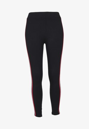 Leggings - Trousers - black/firered/white/navy