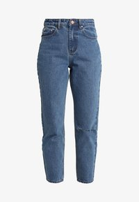 Lost Ink - HIGH RISE - Jeans Straight Leg - mid denim - 5