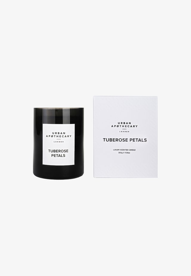 LUXURY BOXED GLASS CANDLE - Scented candle - tuberose petals