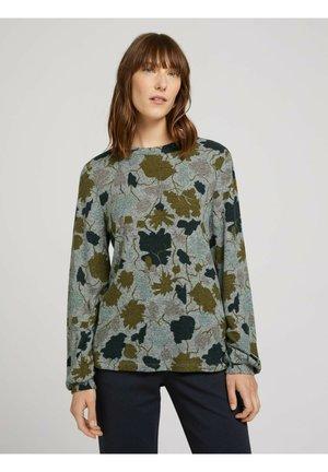 GEMUSTERTES  MIT BALLONÄRMELN - Bluzka - floral design cosy fabric
