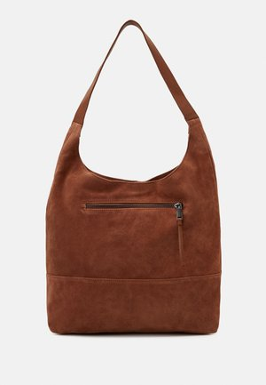 LEATHER - Handtasche - cognac