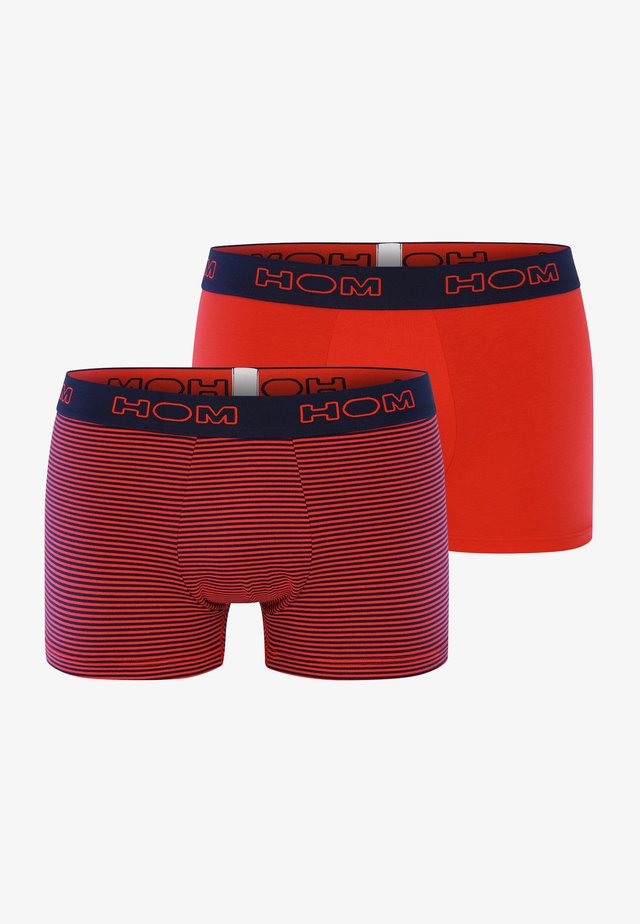 2-PACK - Pants - red
