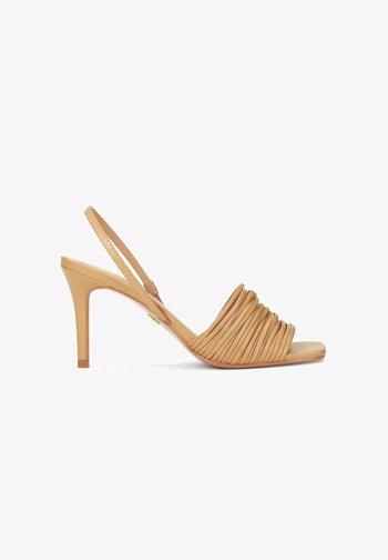 LELA - High heeled sandals - light brown