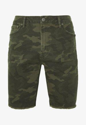 CUTOFF - Shorts di jeans - green