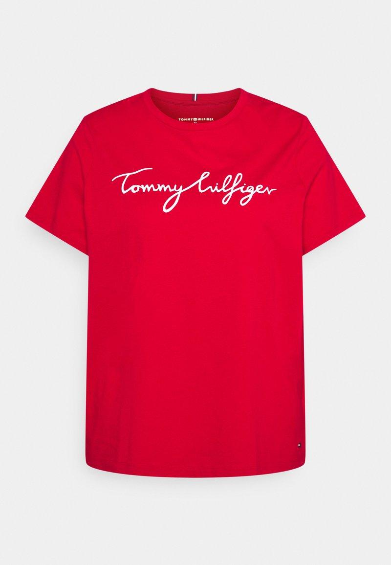 Tommy Hilfiger Curve - REGULAR GRAPHIC TEE - T-shirt imprimé - red
