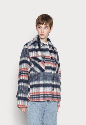 ISA HAIRY SHORT JACKET - Light jacket - dark blue/red/off white