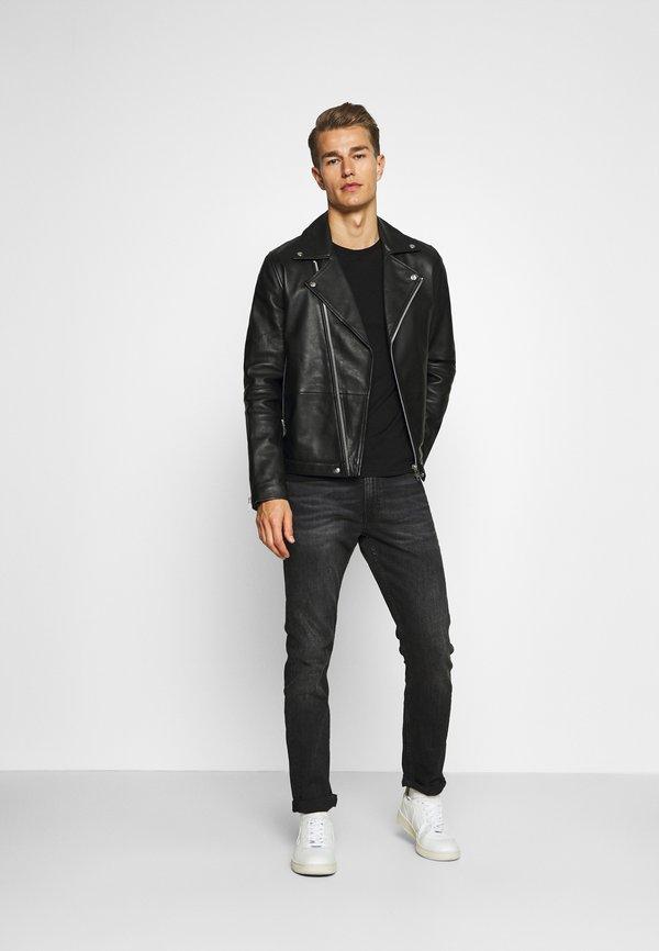 Napapijri SALIS - Bluzka z długim rękawem - black/czarny Odzież Męska COGQ