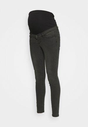 VMMTANYA PIPING - Jeans Skinny Fit - dark grey denim
